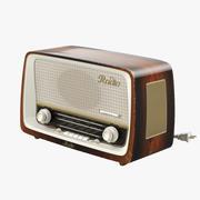 빈티지 라디오 3d model