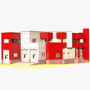 Caserne de pompiers 3d model
