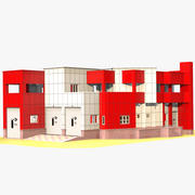 Caserma dei pompieri 3d model