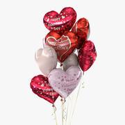 Bouquet de ballons (4) 3d model