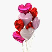 Bouquet de ballons (1) 3d model