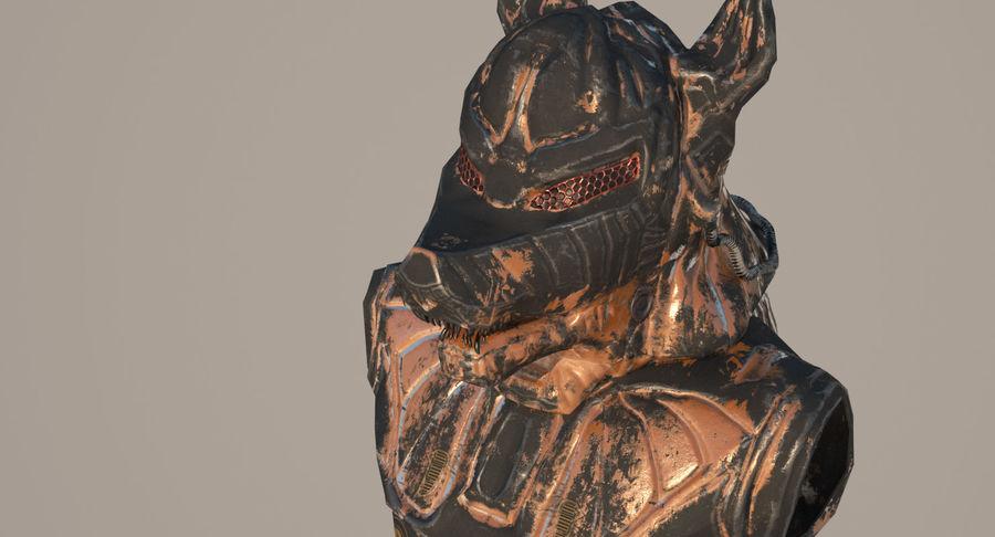 Düşük Poli Köpek Kafası royalty-free 3d model - Preview no. 11