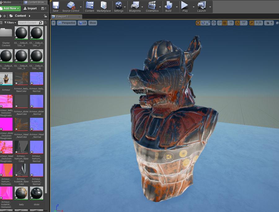 Düşük Poli Köpek Kafası royalty-free 3d model - Preview no. 24
