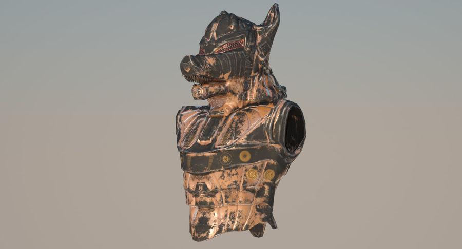 Düşük Poli Köpek Kafası royalty-free 3d model - Preview no. 3