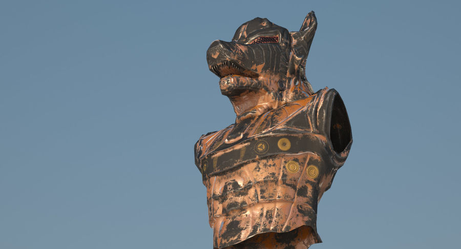 Düşük Poli Köpek Kafası royalty-free 3d model - Preview no. 10