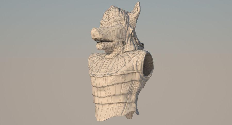 Düşük Poli Köpek Kafası royalty-free 3d model - Preview no. 15
