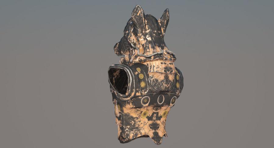 Düşük Poli Köpek Kafası royalty-free 3d model - Preview no. 5
