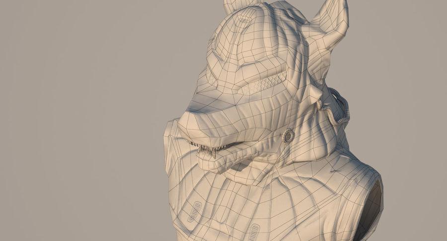 Düşük Poli Köpek Kafası royalty-free 3d model - Preview no. 23
