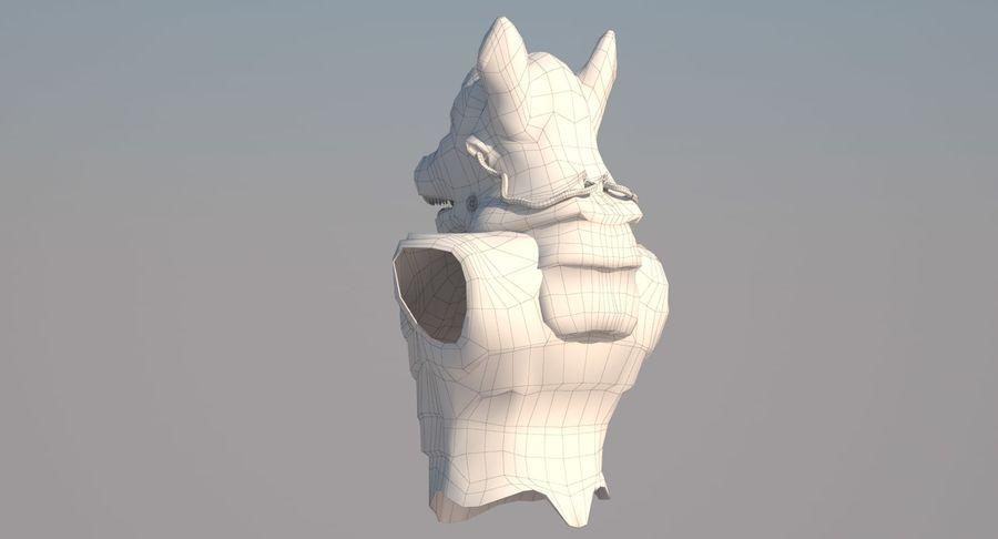 Düşük Poli Köpek Kafası royalty-free 3d model - Preview no. 13