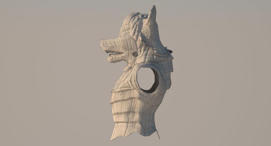 Düşük Poli Köpek Kafası royalty-free 3d model - Preview no. 19
