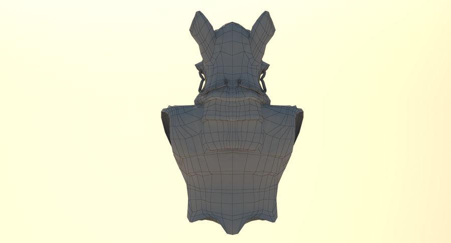Düşük Poli Köpek Kafası royalty-free 3d model - Preview no. 18
