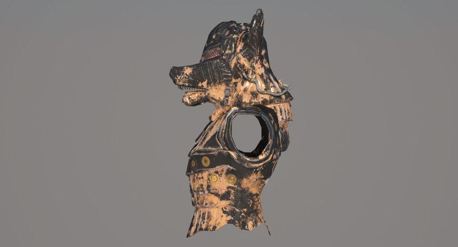 Düşük Poli Köpek Kafası royalty-free 3d model - Preview no. 7