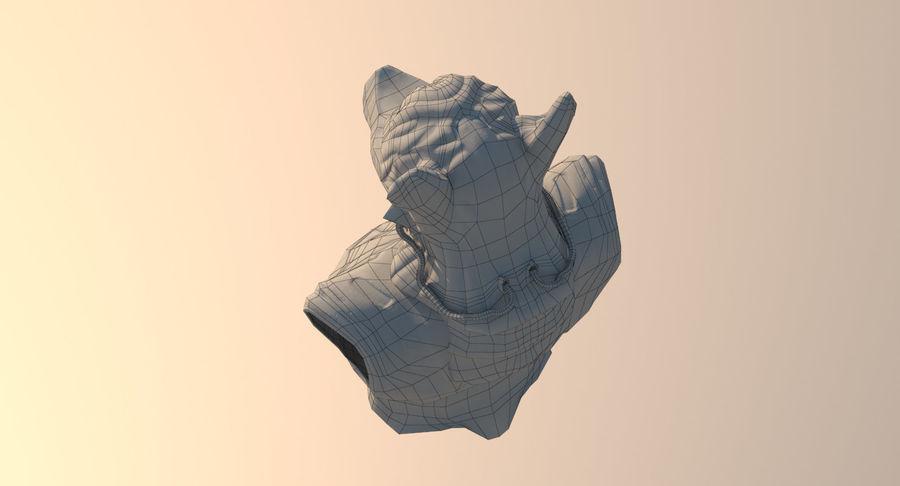 Düşük Poli Köpek Kafası royalty-free 3d model - Preview no. 20