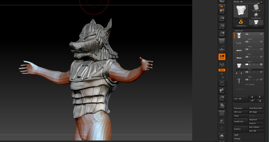 Düşük Poli Köpek Kafası royalty-free 3d model - Preview no. 32