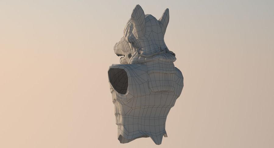Düşük Poli Köpek Kafası royalty-free 3d model - Preview no. 17