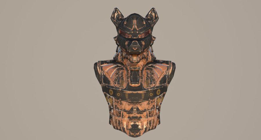 Düşük Poli Köpek Kafası royalty-free 3d model - Preview no. 4