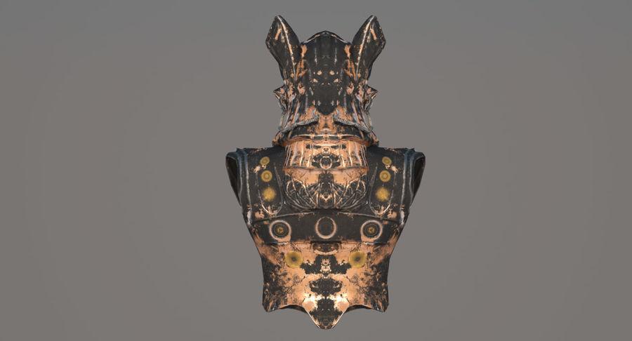 Düşük Poli Köpek Kafası royalty-free 3d model - Preview no. 6