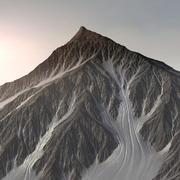 Paisaje de terreno de montaña nevada 18 modelo 3d