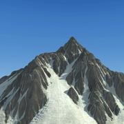 Paisagem de montanha de neve 20 3d model