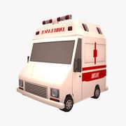 漫画救急車 3d model