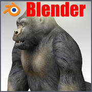 Gorilla Blender 3d model