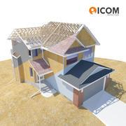 casa residencial completamente detallada por dentro / por fuera modelo 3d