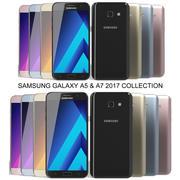 Coleção Samsung Galaxy A5 e A7 2017 3d model