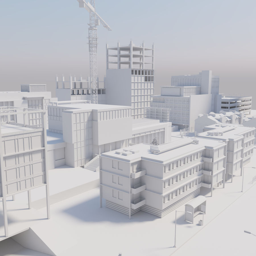 Paisaje de la ciudad royalty-free modelo 3d - Preview no. 1