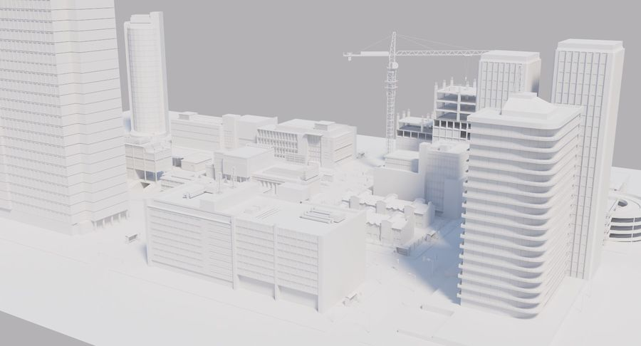 Paisaje de la ciudad royalty-free modelo 3d - Preview no. 14