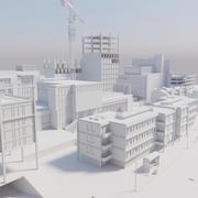 Paisaje de la ciudad modelo 3d