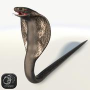 高清眼镜王蛇(低聚) 3d model