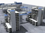 Impianto di raffineria 3d model