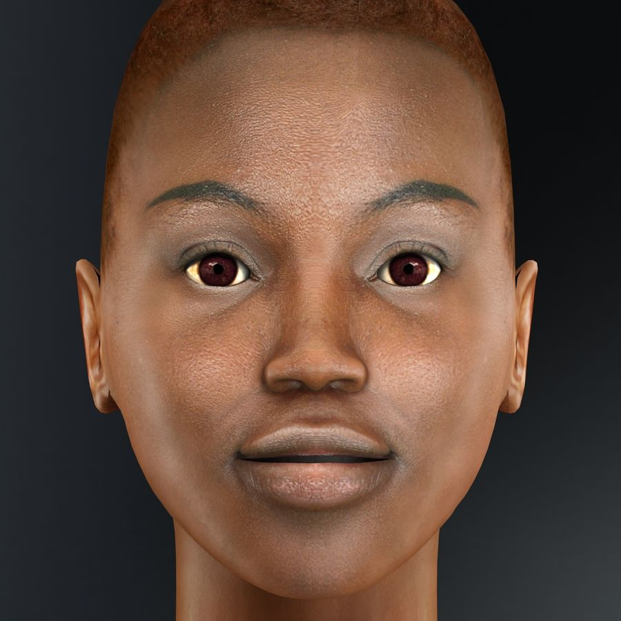 黑人妇女 royalty-free 3d model - Preview no. 21