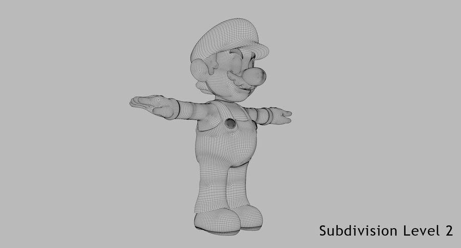 Mario Bros royalty-free 3d model - Preview no. 13