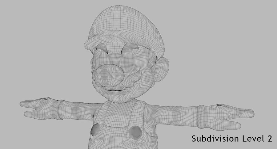 Mario Bros royalty-free 3d model - Preview no. 17