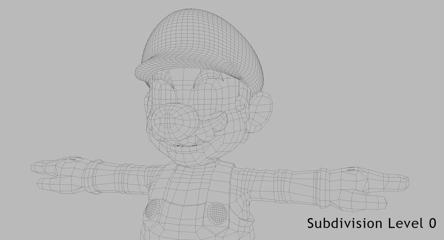 Mario Bros royalty-free 3d model - Preview no. 16