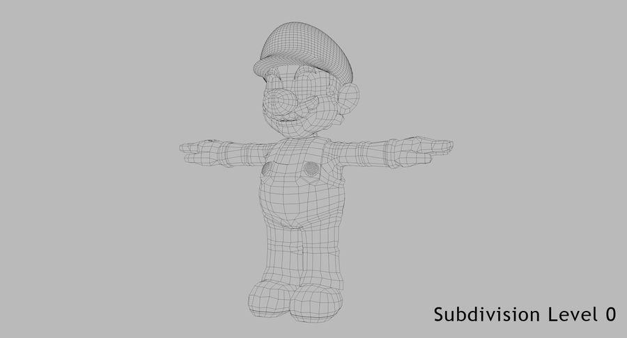 Mario Bros royalty-free 3d model - Preview no. 8