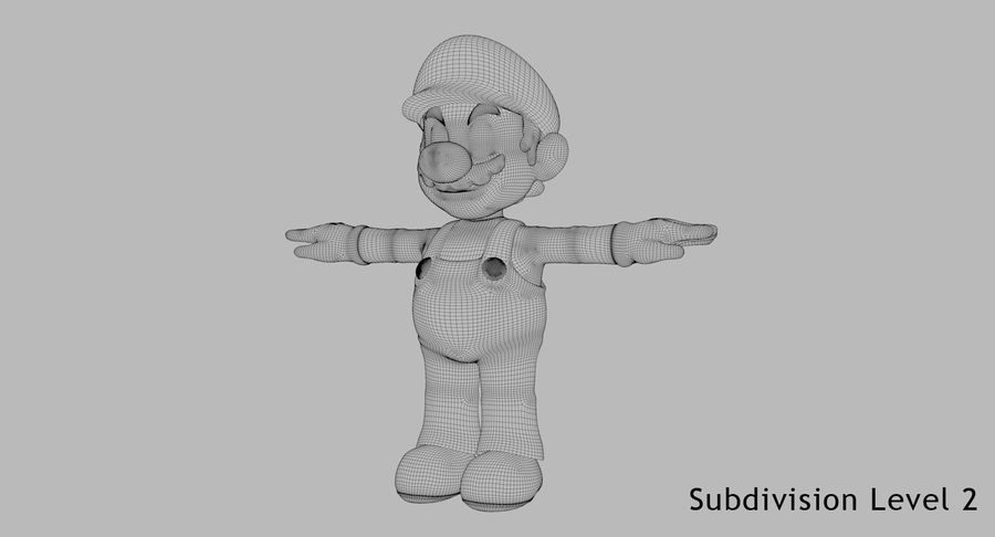 Mario Bros royalty-free 3d model - Preview no. 12
