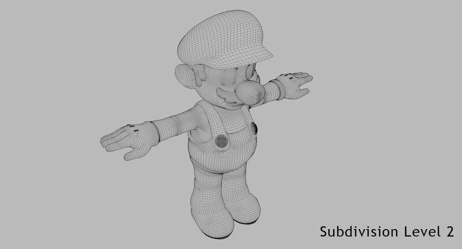 Mario Bros royalty-free 3d model - Preview no. 14