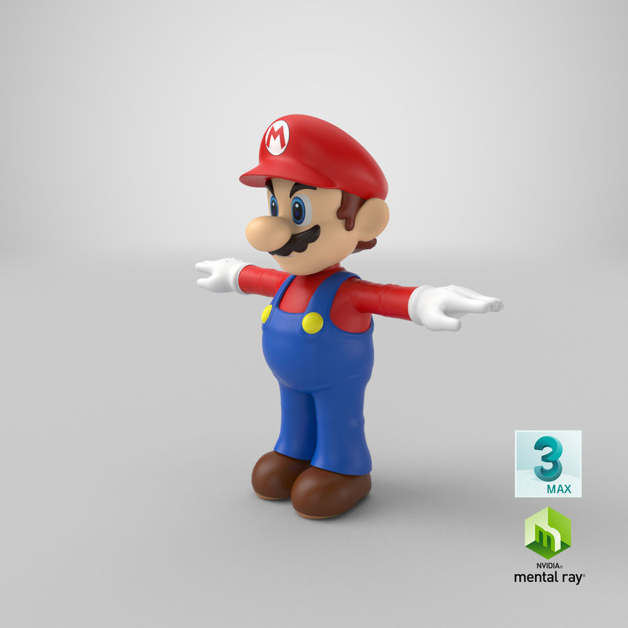 Mario Bros royalty-free 3d model - Preview no. 23