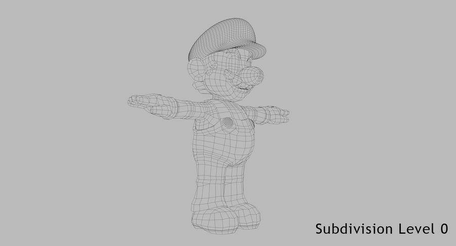 Mario Bros royalty-free 3d model - Preview no. 9