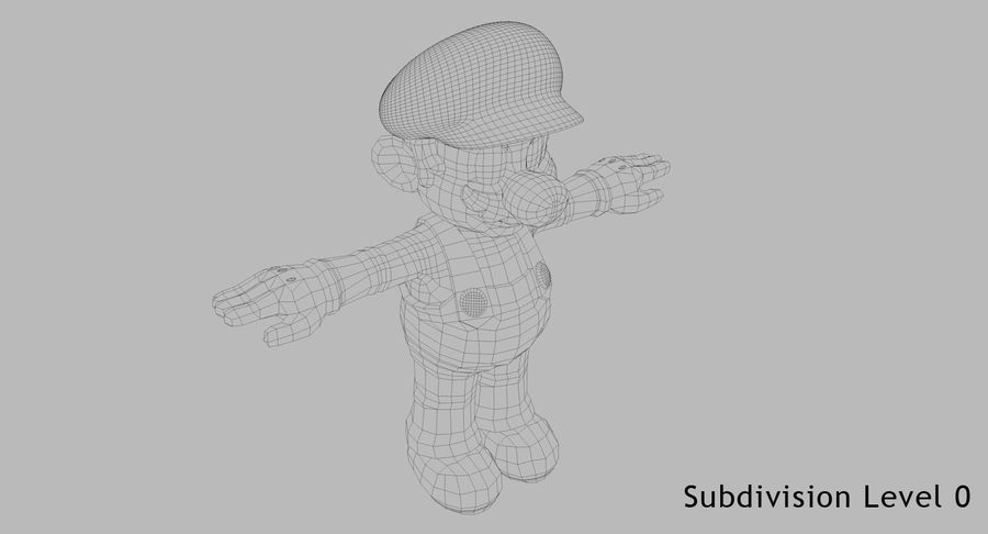 Mario Bros royalty-free 3d model - Preview no. 10