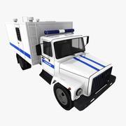 GAZ-3307 Police 3d model