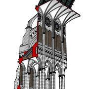 Chartres Katedrali Kesiti 3d model