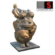 thick dancers 3d model
