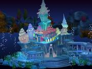 漫画の水中宮殿 3d model