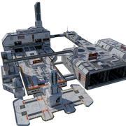 City Sci-fi (blok) 3d model