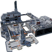 City Sci-fi (block) 3d model