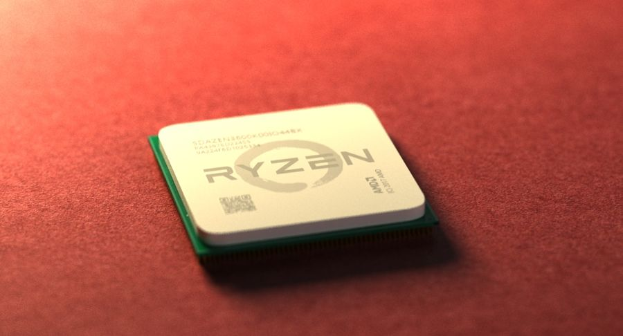 AMD Ryzen royalty-free 3d model - Preview no. 4
