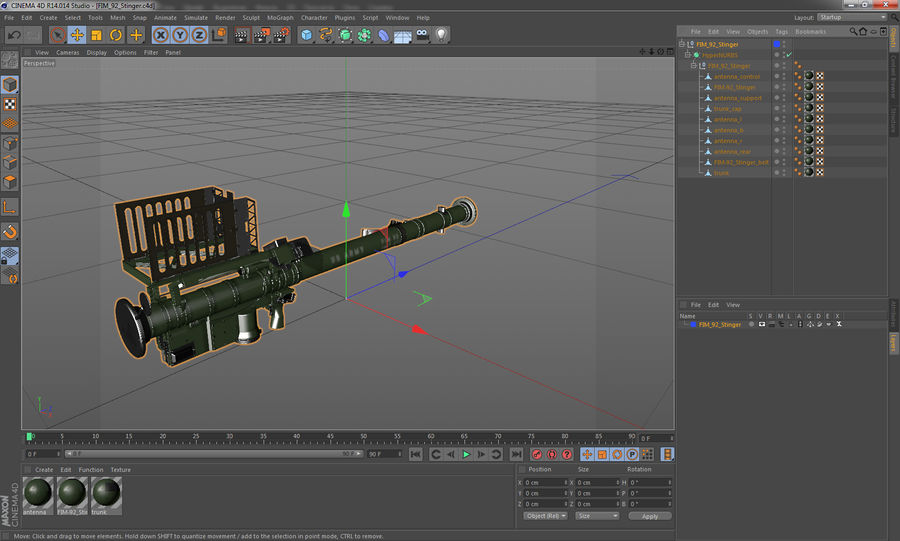 FIM-92 Stinger 3D Model royalty-free 3d model - Preview no. 17